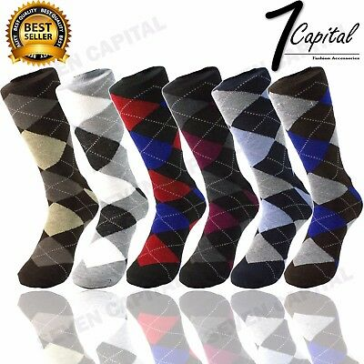 $6.99 • Buy 3 6 9 12 Pairs Mens Funky Colorful Pattern Fashion Casual Dress Socks 10 - 13