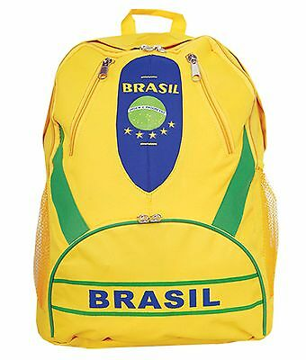 $29.99 • Buy Backpack BRASIL Arza  Color Yellow And Blue. Back To School.