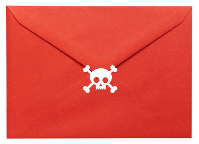 20 X Skull & Crossbones Stickers. Halloween, Pirates. Craft, Scrapbook, Cards • 5.50£