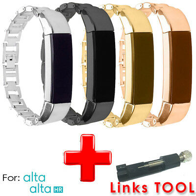 AU13.09 • Buy Stainless Steel Replacement Spare Band Strap  For Fitbit Alta/Alta HR