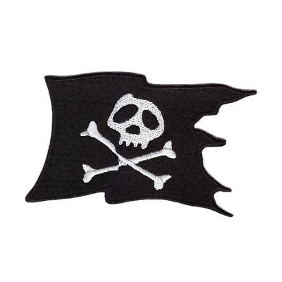 £2.59 • Buy Skull And Crossbones Pirate Flag Iron On Patch Sew On Transfer Badge Fancy Dress