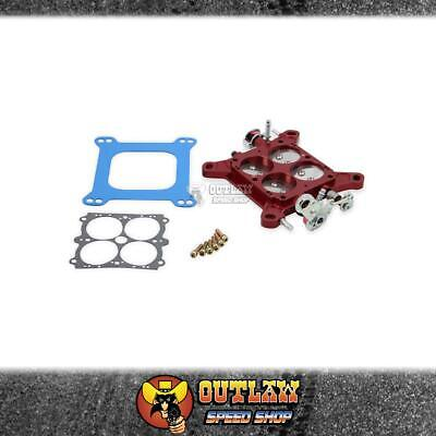 AU399.95 • Buy Quickfuel Carby Billet Throttle Body Assembly 4150/4500 - Red - Q-12-755