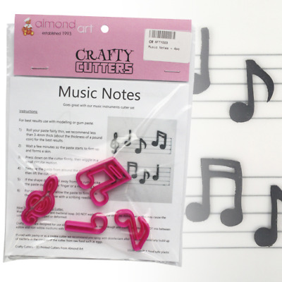 £5.20 • Buy Music Notes Cutter Set - 4pc - Musical Notes - Cake Decorating