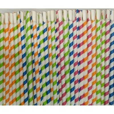 Paper Slush, Milkshake, Smoothie, Spoon Straws 8x200mm,PAPER,Spoon Straw,Slush, • 4.99£