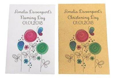 10 X Christening/Naming Day Seed Packets For Guests Perfect Favour Wildflower • 5£