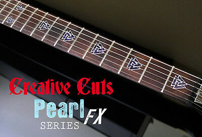 Valknut Triangles BLACK PEARL Fret Markers Inlay Sticker Decal For BASS & GUITAR • 14.78£