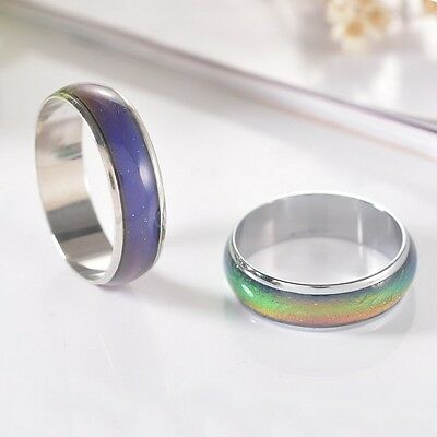 £3.59 • Buy Mood Ring Colour Rainbow Band Unicorn Kids Party Gifts - FREE P&P UK SELLER