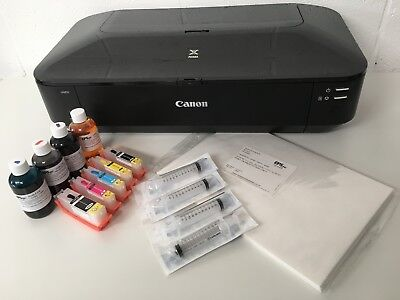 A3 Edible Printer Kit Canon IX6850, Refill Ink Cartridges, Ink & Wafer Paper • 269£