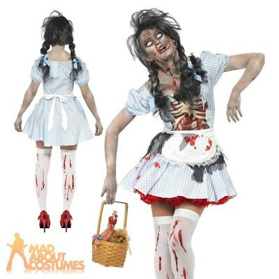 £10.99 • Buy Adult Zombie Dorothy Costume Halloween Ladies Womens Fancy Dress Outfit