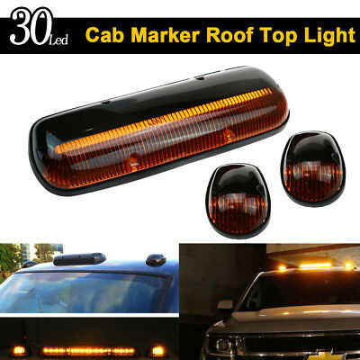 $48.86 • Buy Amber Lens 30LED Cab Marker Roof Clearance Lights Assembly For 02-07 GMC Chevy