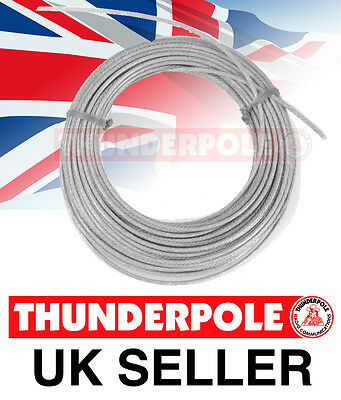 £29.99 • Buy Thunderpole Antenna Wire - Ham Amateur Radio Poly-Weave Cable Aerial - 50m