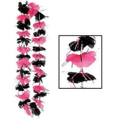 Pink & Black Party Lei 36  Fabric Girl Party Favor Prop Decoration Luau Supplies • 1.71£