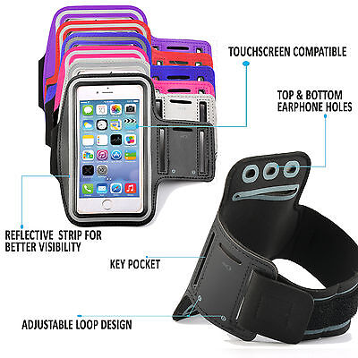 Sports Gym Armband Cover Jogging Running Arm Holder Case For All Samsung Apple • 5.25£