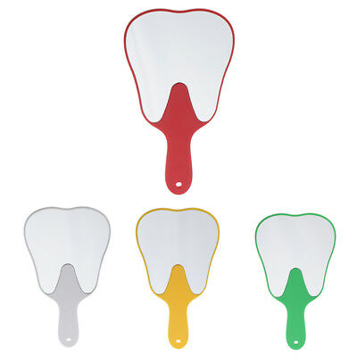 Red White Yellow Green Tooth Shaped Hand Held Cosmetic Makeup Mirror DENTAL GIFT • 4.89£