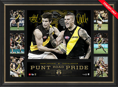 AU195 • Buy Trent Cotchin & Dustin Martin Dual Signed Brownlow Tribute Richmond Print Framed