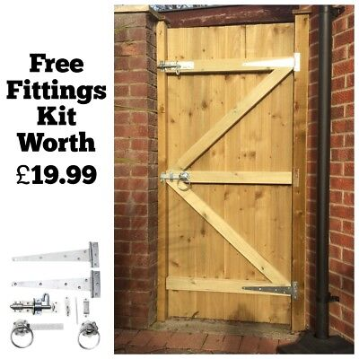 Made To Measure Wooden Garden Gate / Gates  Featheredge Treated 1.8m High • 82£