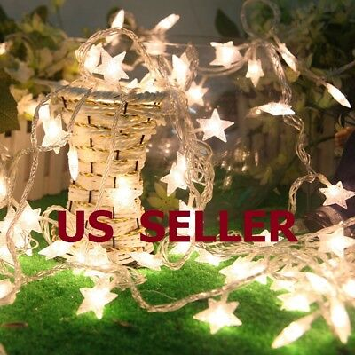 $9.88 • Buy Warm White 10/20/30/40LED Indoor Christmas Party Decor String Star Fairy Lights
