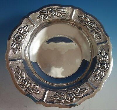 $309 • Buy Aztec Rose By Maciel Mexican Mexico Sterling Silver Fruit Bowl #6522/5 (#1783)