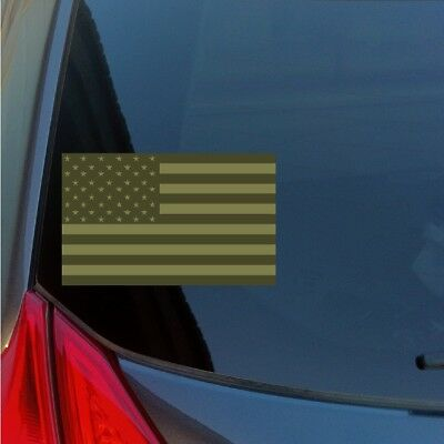 7186a5e265e OD Green Subdued American Flag Sticker Decal SWAT Military Uniform  Camouflage US • 4.50