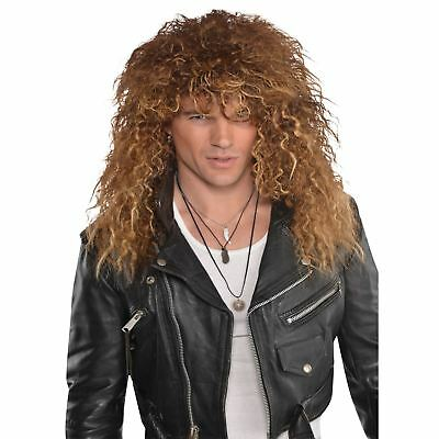 Mens Boy Band Wig Blonde Singer 1980s Costume Fancy Dress Retro Party Accessory