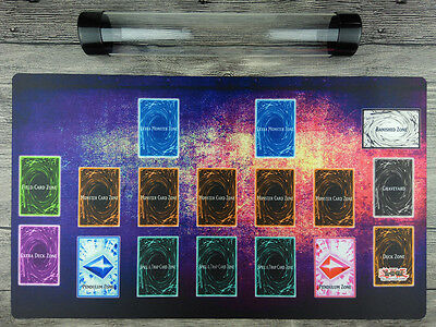 AU32.37 • Buy YuGiOh Custom Playmat Master Rule 4 Link Zones TCG Mat Free High Quality Tube