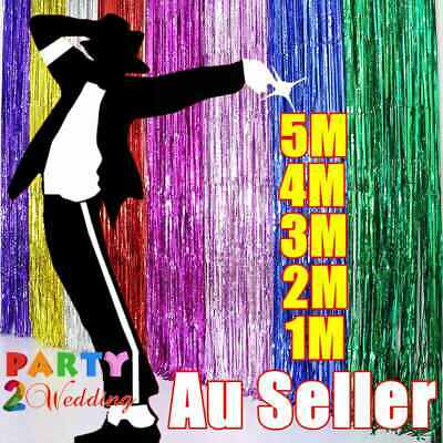 AU3.85 • Buy Metallic Tinsel Curtain Foil 1m 2m 3m 4m 5m Backdrop Function Party Decoration