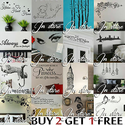 Wall Stickers Quote Vinyl Transfer Decal Decor Interior Home Art Sticker Graphic • 1.75£