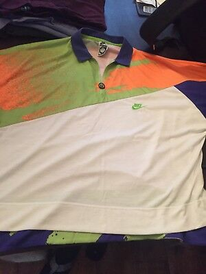 £170 • Buy The Rarest NIKE ANDRE AGASSI XL CHALLENGE COURT TOP SHIRT TENNIS 90's 52