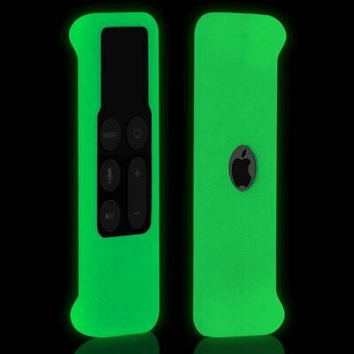 AU6.35 • Buy Silicone Case Cover For Apple TV 4, 4K 5th Remote Control WHITE/Glow In Dark NEW