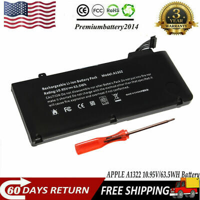 $105 • Buy Lot 63.5Wh Battery For Apple MacBook Pro 13  A1322 A1278 Mid 2009/2010/2011/2012