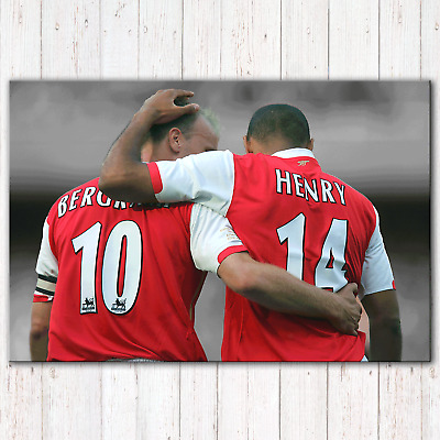 £23.97 • Buy Thierry Henry Dennis Bergkamp Arsenal Canvas Print Wall Art Poster Picture