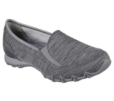 NEW SKECHERS Women Sneakers Slipper Loafer Memory Foam BIKERS-LOUNGER Charcoal • 28.99£