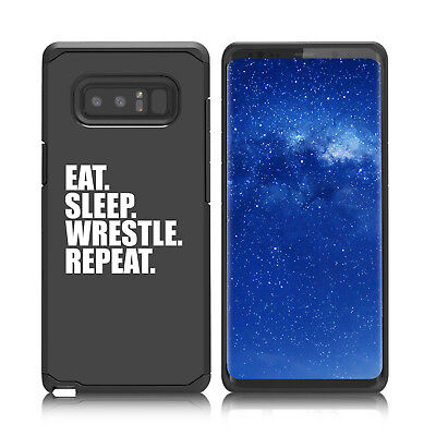 $ CDN19.76 • Buy For Samsung Galaxy Note 8 9 Shockproof Hard Case Cover Eat Sleep Wrestle Repeat