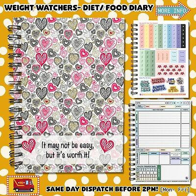 Food Diary WEIGHT WATCHERS Points Journal Planner Book Diets  MYDreams • 6.95£