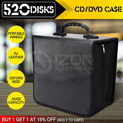 AU19.95 • Buy 520 Disc CD DVD Case Wallet Storage Holder Booklet Album Folder Bag Box Sleeves