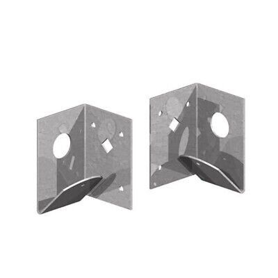 £8.50 • Buy Pair Of Arris Rail Support Brackets For Timber Posts   Left And Right Hand