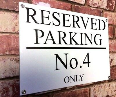 Personalised Quality Private No Parking Metal Sign Weatherproof 30cm X 20cm • 8.99£