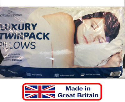 LUXURY Quality Comfortable Pillows Microfibre Soft Twin 2 4 6 Pack Head Neck -UK • 12.99£