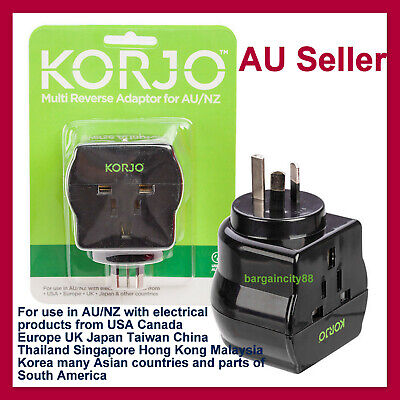 AU29.89 • Buy International Travel Adaptor From USA,UK,Japan,Europe,JP, Bali Asia To Australia