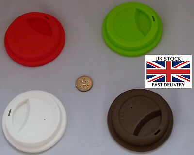 £3.64 • Buy Washable Travel Cup Silicone Lid.Choice Of 8 Colours-UK STOCK-FREE P&P