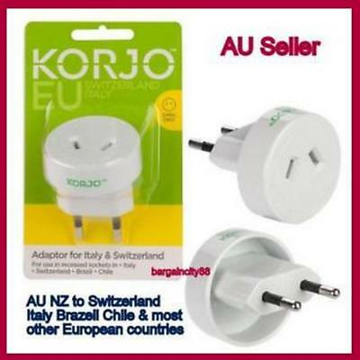 AU22.55 • Buy AUS AU AUST & NZ To Italy And Switzerland Conversion Plug Adaptor Travel Charger
