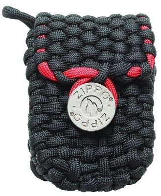 $12.45 • Buy Zippo Paracord Lighter Pouch With Belt Loops, Black & Red, 40467, New In Box