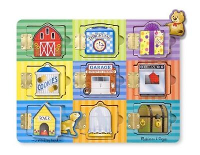 £14.98 • Buy Melissa & Doug Hide And Seek Wooden Activity Board With Wooden Magnets 10474