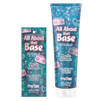 £16.99 • Buy Pro Tan All About That Base Sunbed Tanning Lotion Accelerator With Skin Firmers