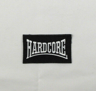 £1.99 • Buy HARDCORE  Iron On Sew On Embroidered Patch