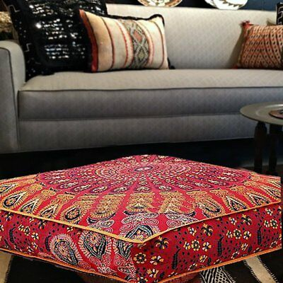 £14.99 • Buy Indian Large Mandala Cushion Cover Square Decorative Floor Pillow Ethnic Pillows