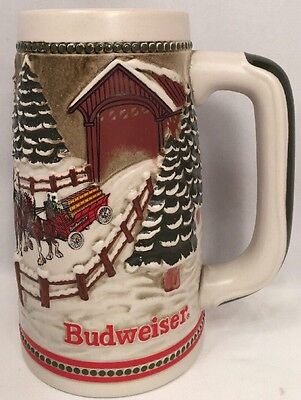 $ CDN54.97 • Buy Vtg Budweiser Limited Edition Beer Stein 1984 Covered Bridge CERAMARTE BRAZIL