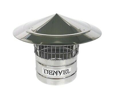 £36.90 • Buy Chimney Cowl With Bird Guard Rain And Snow Cap Cover - Stainless Steel