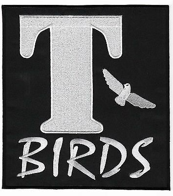 £11.05 • Buy T-BIRDS Patch (8 Inch) Iron/Sew-on Badge Grease Costume Leather Jacket TBIRDS