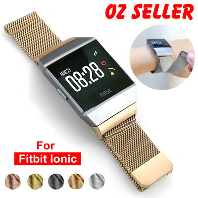 AU12.95 • Buy Milanese Loop Mesh Wrist Watch Band For Fitbit Ionic Stainless Steel Metal Strap